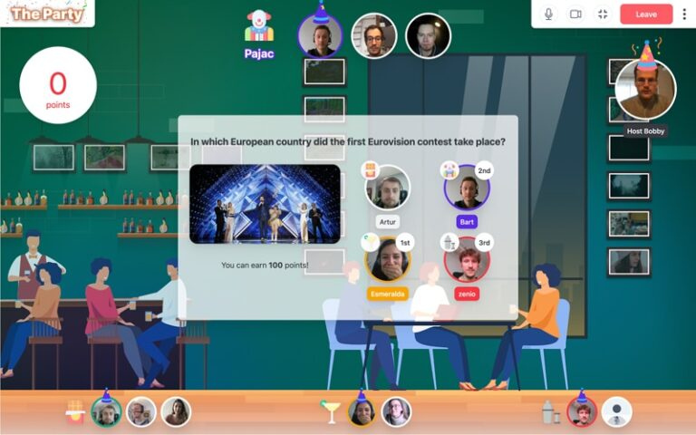 Online Teambuilding The Party